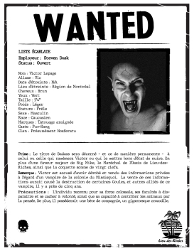 Wanted - Victor Lepage